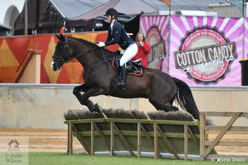 Christina Gear rode 'Elvis' to take second place in the class for Lady's Hunter.