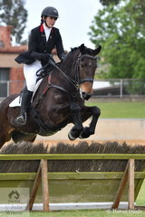 Tara Fuller is pictured aboard her Irish Sport Horse, 'Kalimna Bailey' during the class for Lady's Hunter.