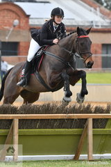 Amelia Wallace is pictured riding, 'Emmooki Street' in the class for Lady's Hunter.