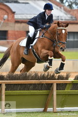 Representing Ebondale Park, Holly Harper is pictured aboard, 'My Way' during the class for Lady's Hunter.