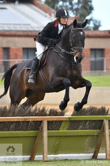 Representing the Fleurieu Hunt Club, Mary Crosby is pictured riding, 'Boy O Boy' during the class for Lady's Hunter.