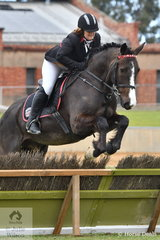 Catherine Leitch representing the Strathalbyn Hunt Club is pictured aboard, 'Davien Park Charlemagne' during the class for Lady's Hunter.