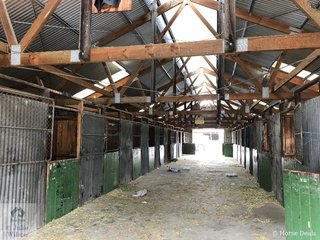 Ghost town to no town. Take one last look, as all the stables other than the brick stables will be removed at the completion of this years show.
