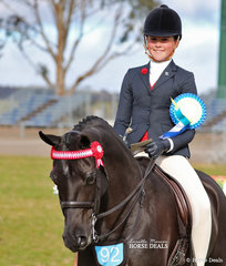 Ella O'Doherty was The J & R EQUESTRIAN Champion Rider 12 & under15 years.