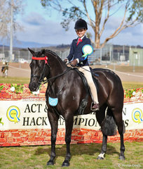 Jessica Callus was Reserve Champion in The J & R EQUESTRIAN Rider 12 & under 15 years event.