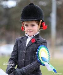 Reserve Champion in The EQUISSENTIALS Rider 6 & under 9 years event - Sienna Jessop.