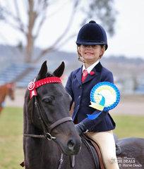 The EQUISSENTIALS Rider 6 & under 9 years Champion - Addisyn Ream.