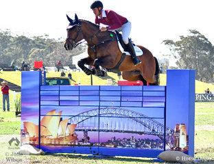 Rhys Stones and, 'Tulara Colmar' representing the Martin Collins Australia team, made a quick trip to Willinga Park for the inaugural Australian Teams Jumping League and then attended his brother's wedding.