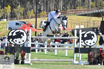 Elliot Reeves jumped a good first round clear for the fourth placed EIAF (Equine International Air Freight) team riding, 'Aveden Indigo'.