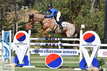 Briar Burnett-Grant from NZ represented the Young Rider component of the second placed Yandoo Team. Every Team of three must field a Young Rider, or suffer a penalty..*Read all about the Australian Teams Jumping League in the October issue of Horse Deals Magazine.