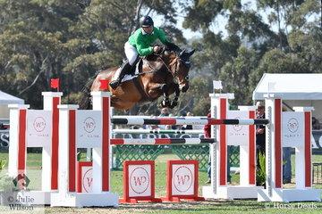 Stephen Dingwall riding for the Oaks Sport Horses team kept his good Adelaide form riding, Cavalier du Rouet'.