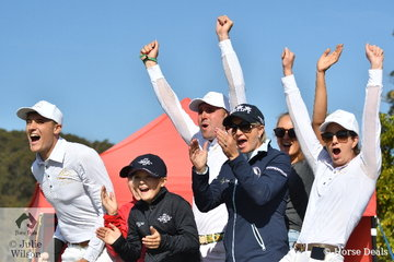 Michelle Lang-McMahon with twins Emily and Elke and the entire EIAF team show just how exciting showjumping can be.
