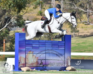 Melissa Blair and her super, 'Zidora' jumped a double clear to help the Yandoo Team take second place in the Australian Teams Jumping League.