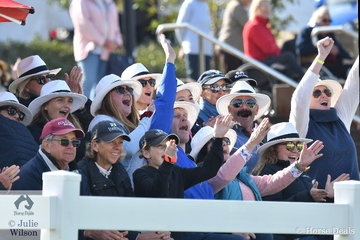 The crowd were treated to some great jumping during the Australian Teams Jumping League and were not afraid to show their appreciation.uring