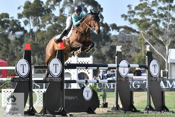 Young Rider, Jessie Rice-Ward had to jump clear to ensure the Emcee victory. Under a lot of pressure she made no mistake riding her ,'CP Southern Cross' to post a double clear.