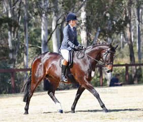 """Emma Broome riding """"Willow"""" in the Rider 26 years & over event."""