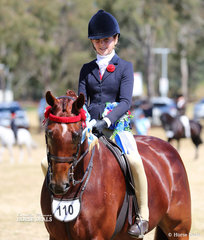 """Champion Child's Open Large Galloway """"Sonos Park Timeless Encore"""" and  Anneliese Hughes."""