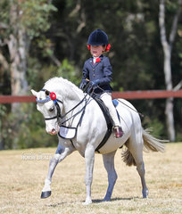 Molly Manchester pictured working out in the Rider 6-9 years event.