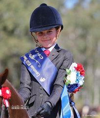 Sarah Amundsen was the Champion Rider 6-9 years of age.