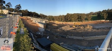 It does not look so great at the moment but this is the start of the new multi million dollar Willinga Park show jumping arena. Completion date is set for March 2020 and next years Jumping at Willinga will be conducted on one of the worlds best outdoor arena. So we recommend you visit Willinga Park next year.
