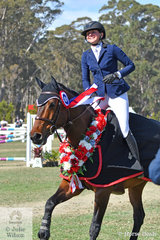 Sally Simmonds from Burke Queensland, had a very good show. Today Sally rode Oaks Chifley to win the Benmax Junior Championship.