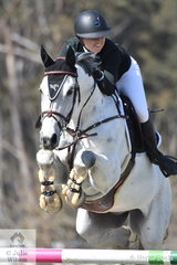 Jamie Priestley rode her 'Courage' to post clear and four in the Fielder's Roofing Mini Prix today.