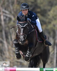 Alyssa Ho posted a good clear first round riding her, 'Equador MVNZ' in the Fielder's Roofing Mini Prix today.