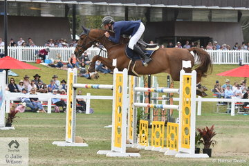 James Arkins jumped clear and four in the Fielder's Roofing Mini Prix today riding his very well performed, 'Rosthwaite Viglante II'.