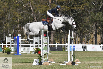 Gabi Kuna jumped an impressive double clear riding the stallion, 'Cera Cassiago' to take third place in the Willinga Park Grand Prix today.  The six combinations that jumped a first round clear in the Grand Prix today earned half an Olympic MES. (COC)