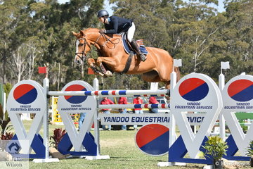 Gabi Kuna took eighth place with her wonderful, imported mare, 'Flaire', jumping clear and four in the Willinga Park Grand Prix.