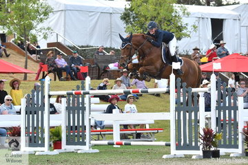 Brooke Langbecker rode her imported and talented Quidam de Revel stallion, 'Quintago 1'  to take 12th place in the Willinga Park Grand Prix.