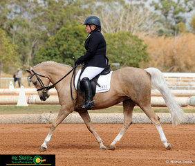 A beautiful diagonal shown by Susanna Cooper riding Julmar Anastasia in the Emma's Website Pony Preliminary 1C competition on the first day of the 2019 QLD Dressage Championships.