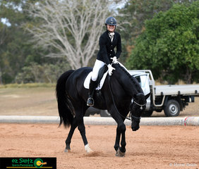 After a great test in the Open Preliminary class on day 1 of the 2019 QLD State Dressage Championships, Isabella Wilkinson-McIntyre rewards Remi Livingstone-S, and can barely contain her excitement.