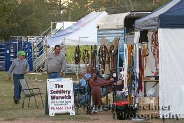 The Warwick Saddlery proved a very popular place to make those important purchases of new gear