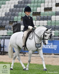 Sabrina Gilmour rode Jordan Barnard's, 'Lykanarro Rocklyn' to third place in the class for Pony Turnout 12.2hh and under, Riders 7 to 9 Years. Sabrina also won the Rider 8 to 10 years and was declared Reserve Champion Junior Rider.