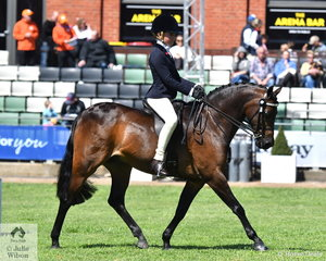 Tia-Rose McKenzie from Middle Dural in NSW won the class for Junior Rider 10 and Under 12 Yers.