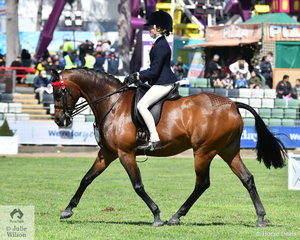 Shayleigh Joblin from Lara In Victoria took fourth place in the class for Junior Rider 10-12 Years.