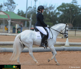 Ashlyn Dyer and Imperial Austin competed in the Pony Elementary class at the 2019 QLD State Dressage Champions, held at the Queensland State Equestrian Centre.