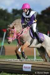 """Winners in the Grade 5 Section 3, Jasmine Lazzar from Hastings Pony Club riding """"Wyann Red Baron"""""""