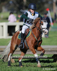 """Winner of the Grade 4 Section 2, Tayla Anderson from Cranbourne Pony Club riding """"Creswell Montana"""""""