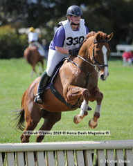 """Sara Leitch from Hastings Pony Club placed equal 4th in the Grade 4 Section 5 riding """"Academy Dancer"""""""