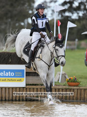 "Trailblazer in the Grade 1 Darcy Vinycomb from Williamstown Pony Club riding ""Set in Stone"""