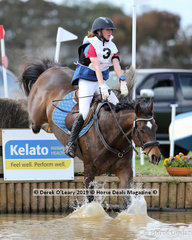 """Second place in the Grade 1 went to Maddy Kitto riding """"My Friend Jack"""" representing Yarrambat Pony Club, also finishing on her dressage score with clear showjumping and cross country rounds"""