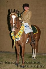 Supreme Hack receiving the Oakwood Lodge Perpetual Trophy 'Arakoola Medallion' exhibited BW.Rogers
