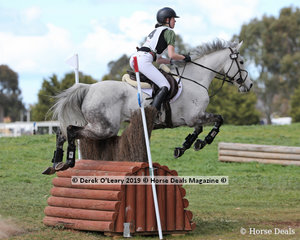 """Tessa Artis placed 3rd in the Grade 1 representing Barwon Valley Pony Club riding """"Worthashot"""" picking up 8 jumping penalties in the showjumping phase but no faults on cross country."""