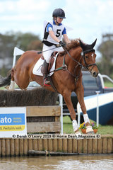 "Bridget Duncan in the Grade 1 representing Ringwood Pony Club riding ""Magnitude"""