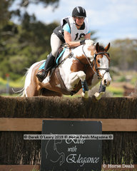 "Rachel Lyon placed equal 5th in the Grade 1 representing Warragul Pony Club riding ""Kingfield Ricochet"""
