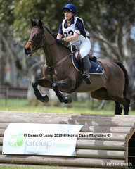 """Bronte McShane representing TAS Monmouth Pony Club rode  """"Alissandra"""" in the Grade 2 Section 1 placing 6th overall in the section"""