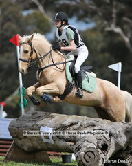 "Ebony Reid in the Grade 2 Section 1 representing Barwon Valley Pony Club riding ""WP Vegas"""