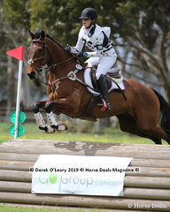 "Olivia Rivette representing Bacchus Marsh Pony Club in the Grade 2 Section 1 riding ""Ingliston Park Equal Chance"""